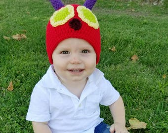 Very Hungry Caterpillar Hat - Birthday Hat - Baby /Toddler Bug Hat