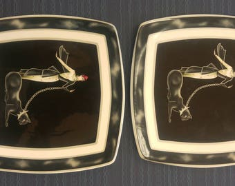 Italian Ceramics Company I.C.C. Wild Cats Plate (Made in Italy)