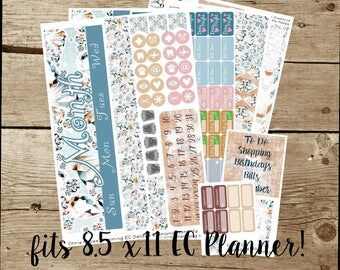 8.5x11 Choose your Month(ly) kit-- Diamond (for use in Erin Condren 8.5x11 Planner)