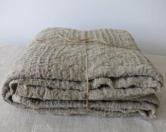 Linen blanket /  Gray linen blanket/ Summer blanket/Rustic Linen blanket