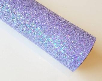 A4 sheet of Lavender Haze - Iridescent Lavender Chunky Glitter