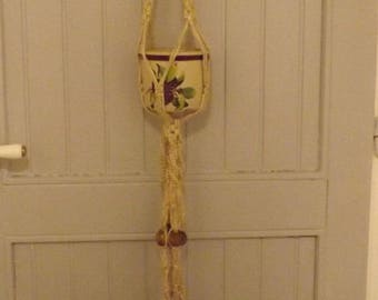 Great Macrame double plant handmade 168 cm rope for plant stand, anne 1970