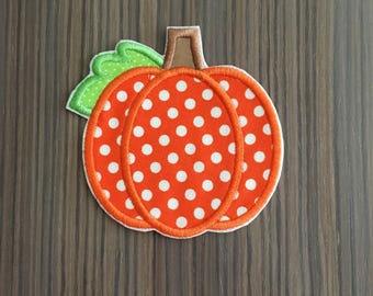 Pumpkin Iron on Applique Patch