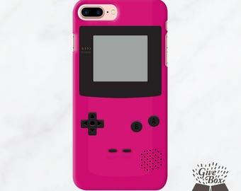 iPhone 7 Plus Case, iPhone 7 Case, iPhone 6 Case, Samsung Galaxy case, Samsung Galaxy S8 Case Rubber Case Tough Case Pink Gameboy style