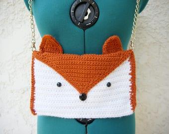 Fantastically Foxy Fox Purse - Handmade Crochet