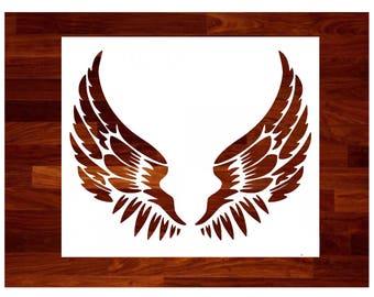 Custom Stencils - Angel Wings Stencil - Durable & Reusable