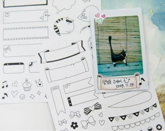 Instax mini Stickers Super Package for decorate your Polaroid photo
