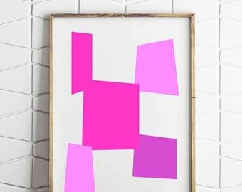 80% OFF pop art print, pop art printable, pop pink decor, pop decor, pink download, pink home art, pink wall decor, pink room poster, pop po