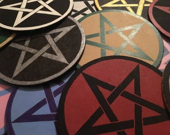 Custom Pentagram/Pentacle Altar Board