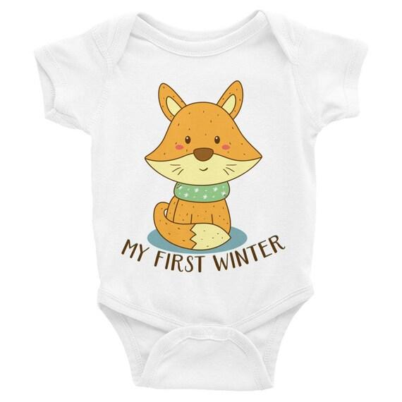 My First Winter Baby Onesie Infant Bodysuit   First Christmas Onesie, Baby's First Christmas, Winter Onesie   First Christmas Shirt