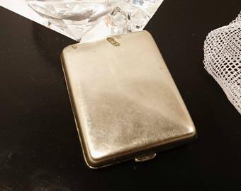 Antique silver plated matchbook case, Epns vintage antique match case, vesta case 1915