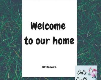 Welcome Home Print A4