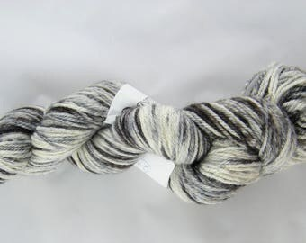 25% Silk - Harbour yarn - Denim colourway - 291 yards - 100g - Blue and Black - Handpainted - Blue Faced Leicester Wool - Sport Weight #428