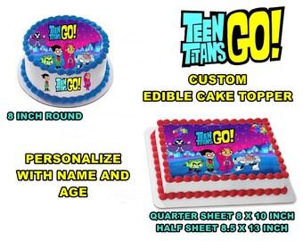 Teen Titans Go Edible Images Cake topper