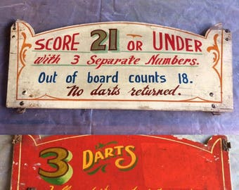 Original wooden fairground sign