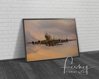 A380 Aviation Digital Download. Professionally shot limited edition digital download. Aviation Art, Aeroplane Print, Aviation Photography