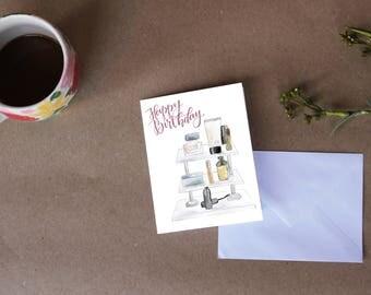 Cosmetic Birthday Card