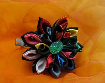 Multicolored Kanzashi Flower