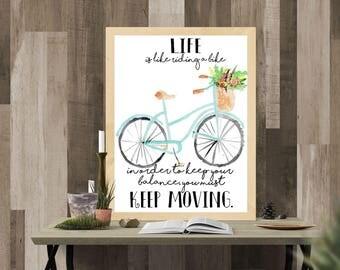 Keep Moving 8x10 Motivational Printable Artwork