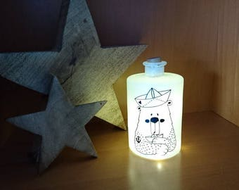 Lichtflasche Flaschenlicht Seebär von Frollein KarLa