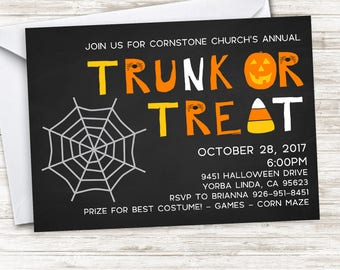 Trunk party invitations Etsy
