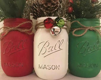 Christmas mason jar  Etsy
