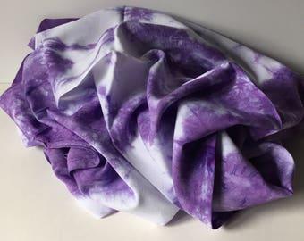 Scarf, rayon, shawl, hydrangea purple, 20x70, (R6.1)