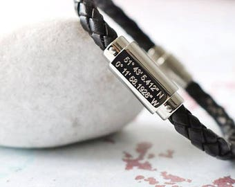 long distance relationship bracelet - long distance gift -