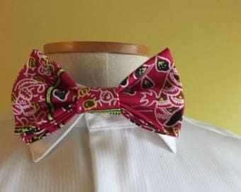 Gentlemen Ankara Bow Tie with Pocket Square, Men's Bow-tie,African Men's Fashion, African Bow Tie, Gift for Men