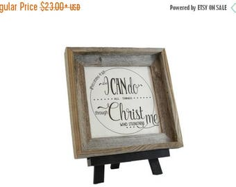 Summer Sale Strength/ Bible Verse Art on Wood/ Christian Gift/ Scripture Art/ Christian Sign/ Encouragement/ I can Do All Things/ Phillipian