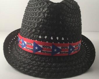 Fedora hat Boricua 100%