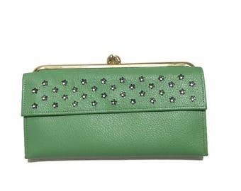 Vintage 1960's Princess Gardner wallet / green