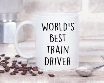 World's Best Train Driver Gift Present Christmas - 11oz MUG