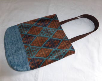 Totbag bag made with 2 upholstery