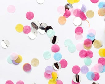 Paper Colourful Confetti 1cm circle 50g - wedding, birthday, party, decoration  - AU Free shipping
