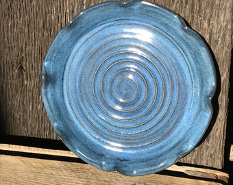 Blue Spiral Platter