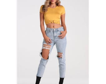 Be mine distressed jeans