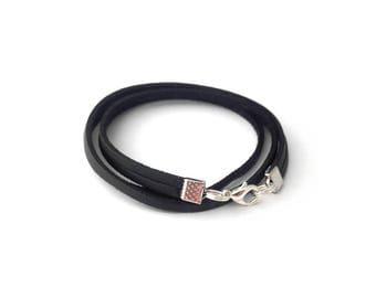 Black mens bracelet