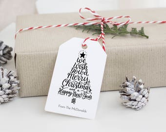 Christmas Tag Template, Rustic Christmas Tags, Personalized Christmas Tag Printable, Instant Download PDF, WLP570