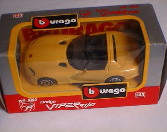 Dodge Viper Yellow new in box 1/43 diecast