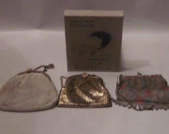 3 whiting and davis co mesh bags with original box