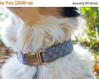SALE Dog Collar- Male Dog Collar- Large Dog Collar- Fabric Dog Collar- Boy Dog Collar- Pet Collar- Grey Dog Collar- Custom Collar-Cute Dog C