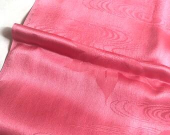 Kimono Belt/Vintage Japanese Silk Obiaga/Pink Obi/Obi Belt/Floral Kimono Sash/Obi Sash/Silk Scarf