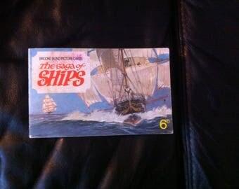 Tea cards album  1960s GB The Saga of Ships 50 Brooke bond tea cards
