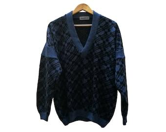 Vintage JUMPER//vintage clothing/gift for women/blue/1 980s/unisex/Knitwear/vintage knit/gift for men/medium size