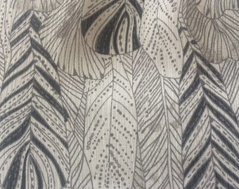 baby doll dress in black and white and feather print art deco