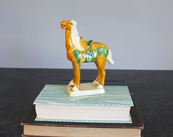 Chinese Tang Style Horse Figurine, War Horse Statue