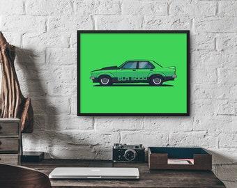 Holden Torana SLR 5000 Classic V8 Muscle Car Poster Wall Art Print