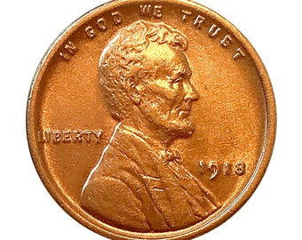 1918 P Lincoln Wheat Cent - Choice BU / MS RD / Unc