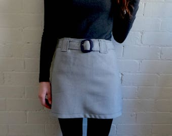 Retro Herringbone Mini Skirt